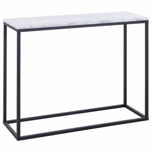 Perin 100cm Marble Console Table | White | Schots