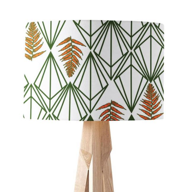 Phoebe Green Orange | Paper Lampshade | Various Sizes | Amba Florette