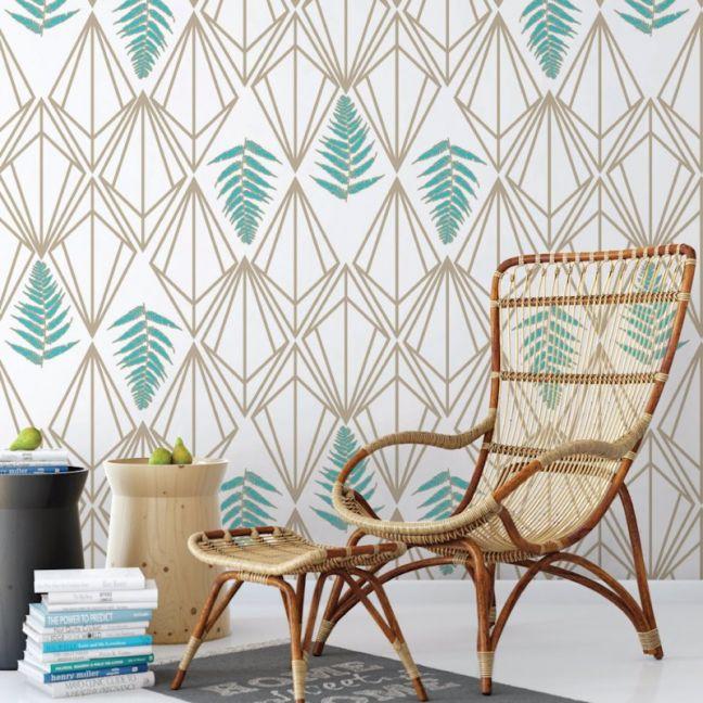 Phoebe - Nature's Glamour   Eco Wallpaper   Phoebe Teal   Amba Florette