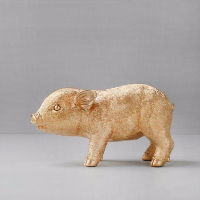 Pig Money Box   Gold   White Moose