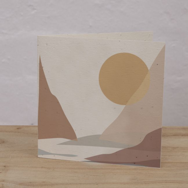 Plantable Cards on Handmade Recycled Paper l Mountain Lake