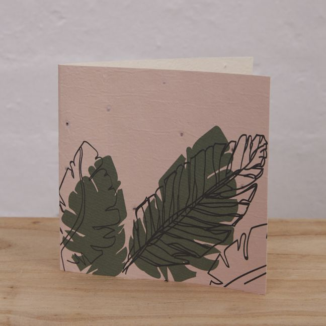 Plantable Cards on Handmade Recycled Paper l Palms