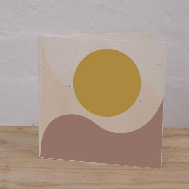 Plantable Cards on Handmade Recycled Paper l Sunrise, Waves