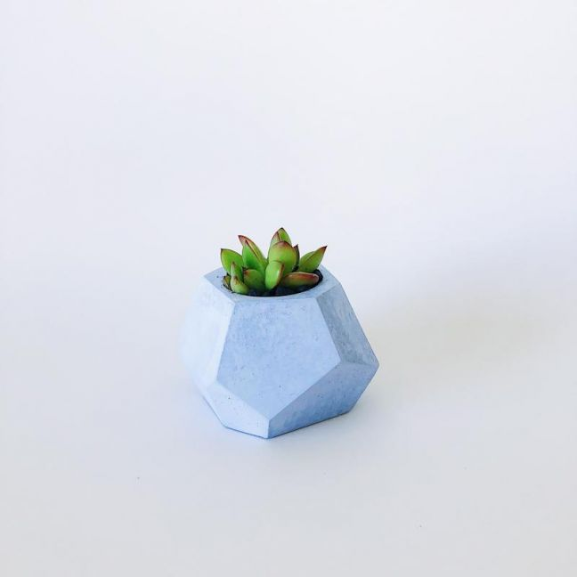 Planter | Pebbles | Pastel Blue | by Coral and Herb