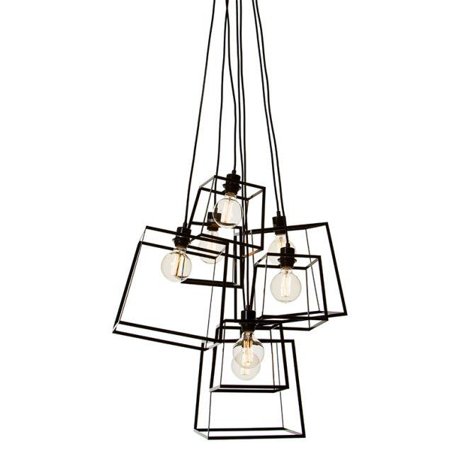 Pop Cluster 7 Light Pendant | Black or White