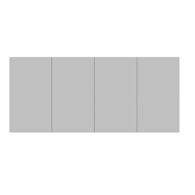 Posh Domaine 4 Door Shaving Cabinet | Reece
