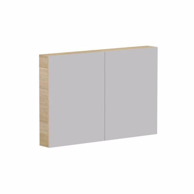 Posh Domaine Plus 1200mm x 800mm Shaving Cabinet Graphite Interior LED 2 Door | Reece