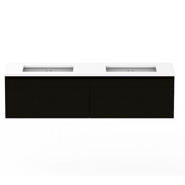 Posh Domaine Plus 1500mm Wall Hung Vanity Unit All-Drawer Double Bowl