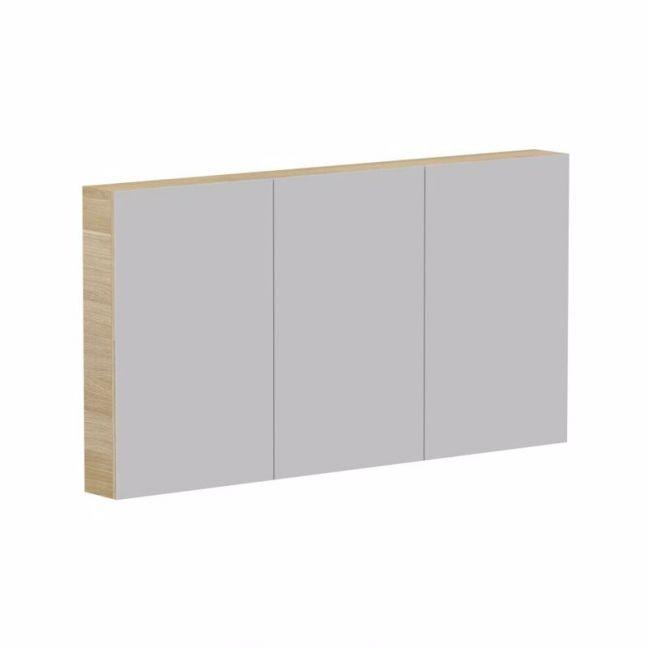 Posh Domaine Plus 1500mm x 800mm Shaving Cabinet Graphite Interior LED 3 Door | Reece