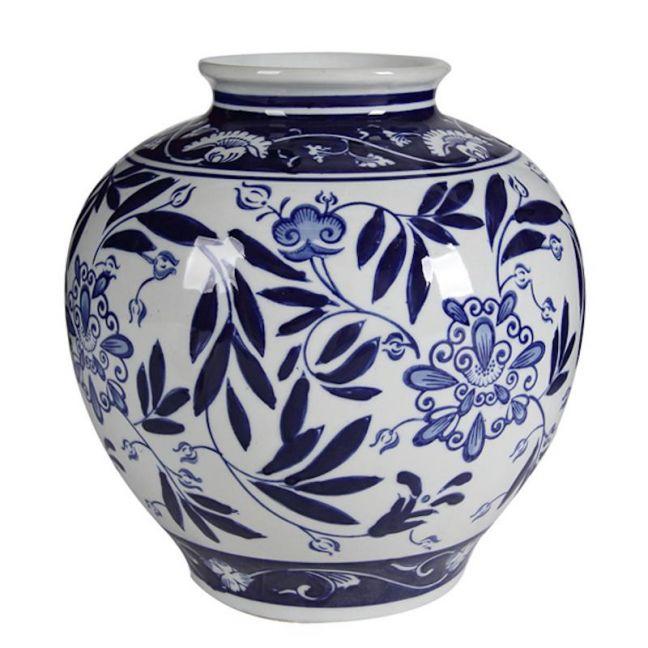 Posy Handmade Ceramic Vase | Blue & White | by Dasch Design