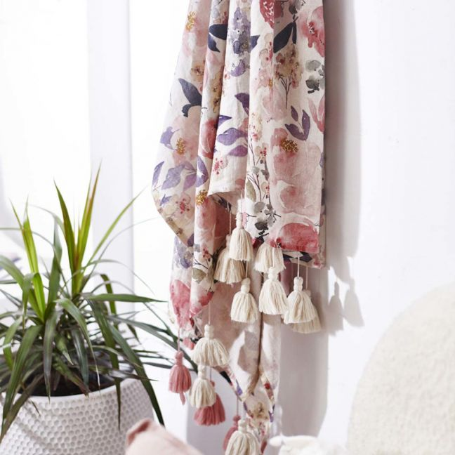 Posy Throw   Rose Floral