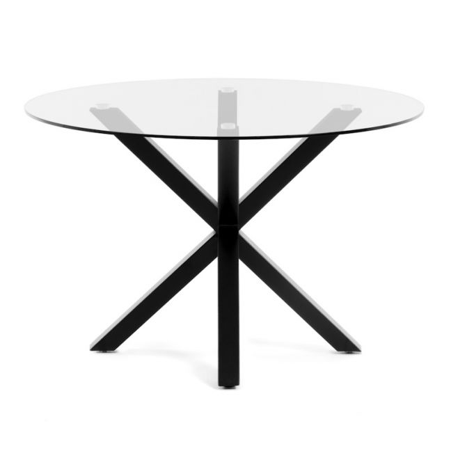 PRE-ORDER - December Arrival   Arya 119cm Round Clear Glass Table
