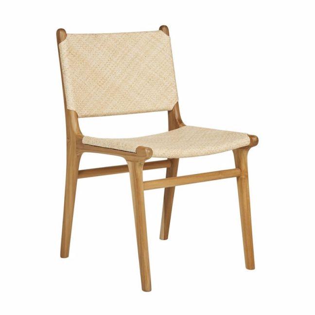 Pre- Order | Fenton & Fenton | Suma Dining Chair | Natural Rattan And Teak