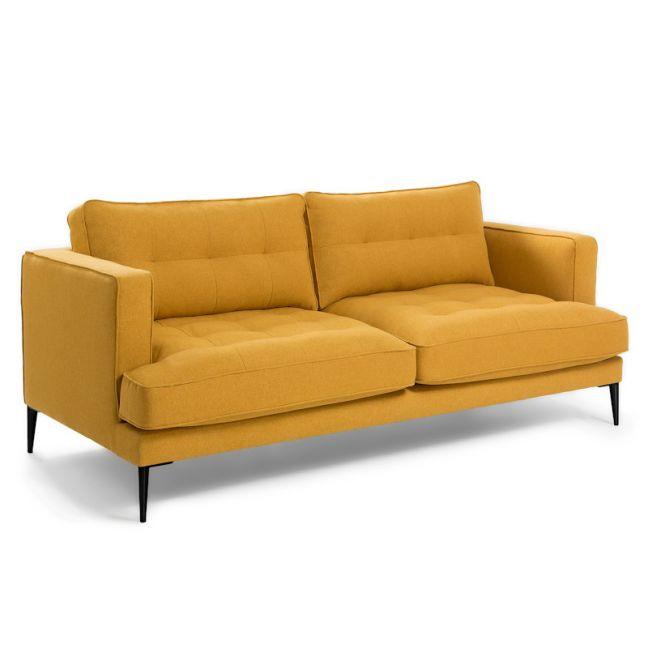 PRE-ORDER   Vinny Three Seat Sofa   Mustard