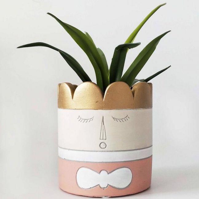 Princess Head Planter Pink