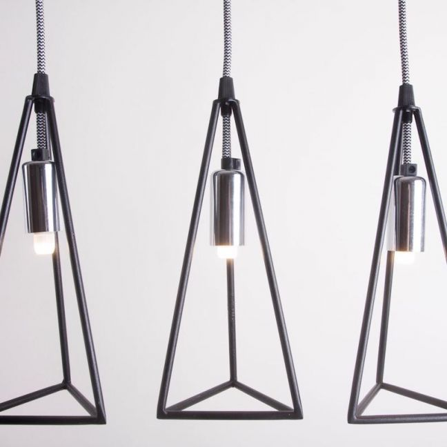 Prism | Metal Cage Pendant Light | Various Colours