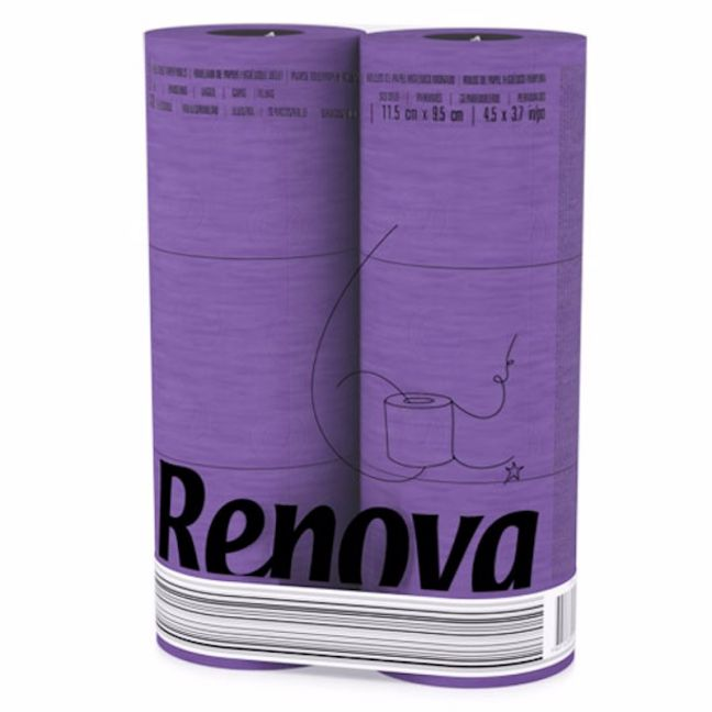 Purple Toilet Paper | 3 Ply | 6 Roll Pack