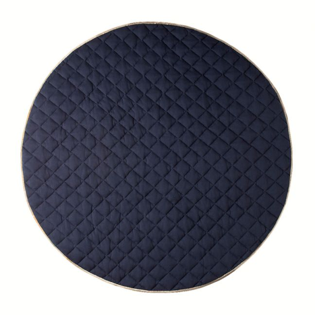 Quilted Cotton Play Mat   Royal Blue