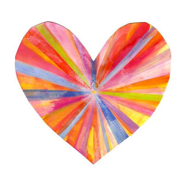 Rainbow Heart Print by Madeleine Stamer