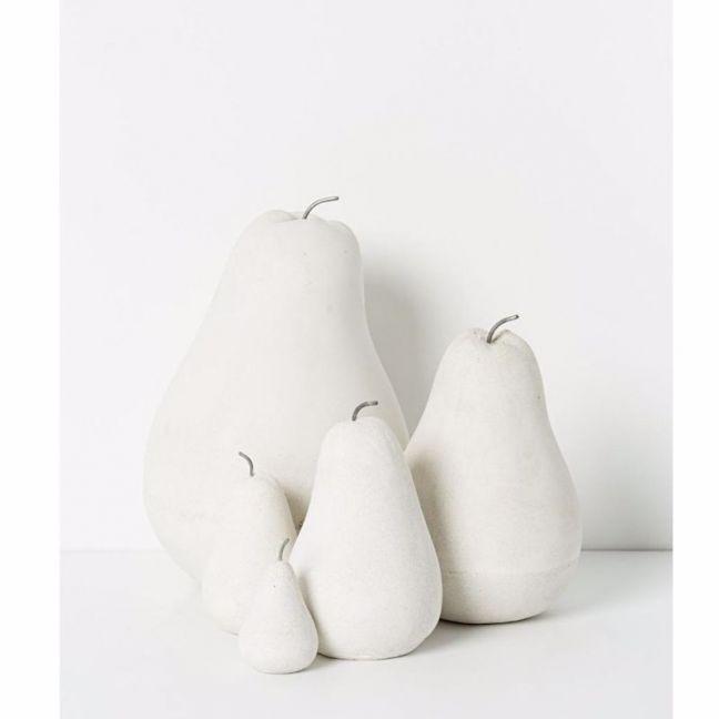 Rania concrete pear - white