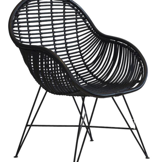 Rattan Arm Chair   by Raw Decor   Black