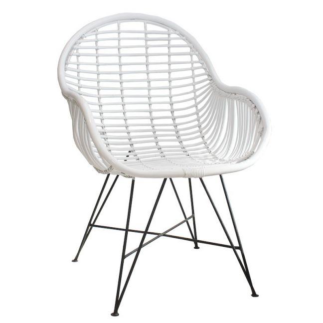 Rattan Arm Chair | by Raw Decor | White