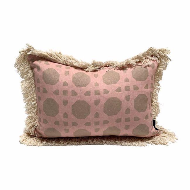 Rattan Cushion   Blush