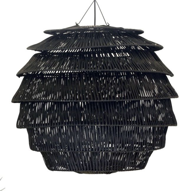 Rattan Hive Pendant   Black   by Raw Decor