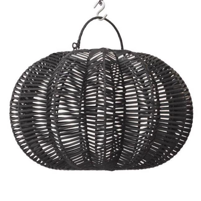 Rattan Lotus Pendant | Black | by Raw Decor