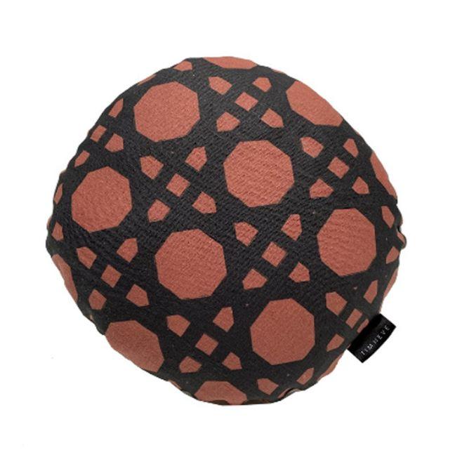 Rattan Round Cushion | Rust