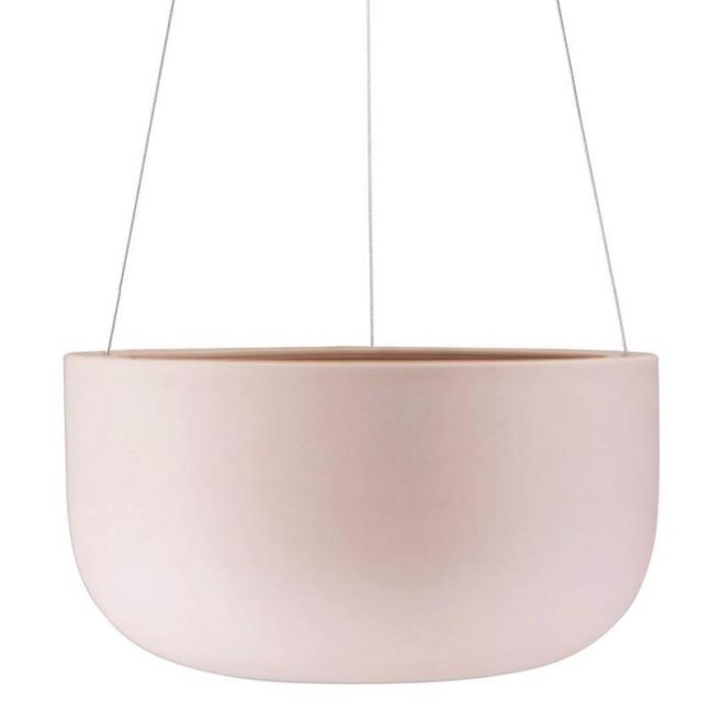Raw Earth Hanging Planter by Angus & Celeste | Rock Salt Pink | Large