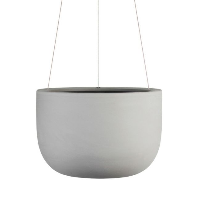 Raw Earth Hanging Planter by Angus & Celeste | Siltstone Grey | Regular