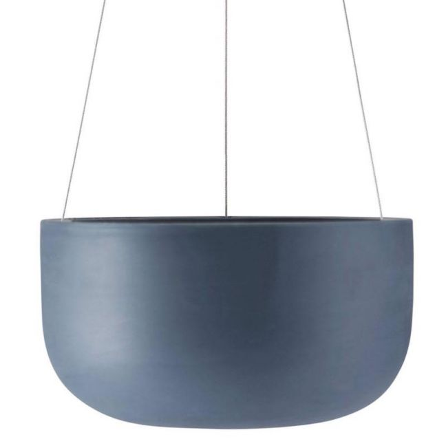 Raw Earth Hanging Planter by Angus & Celeste | Slate Blue | Large