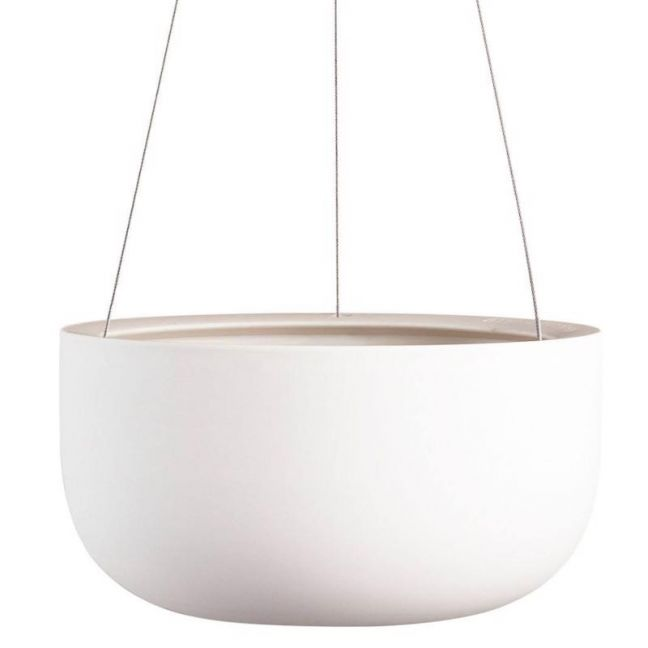 Raw Earth Hanging Planter by Angus & Celeste | White | Large