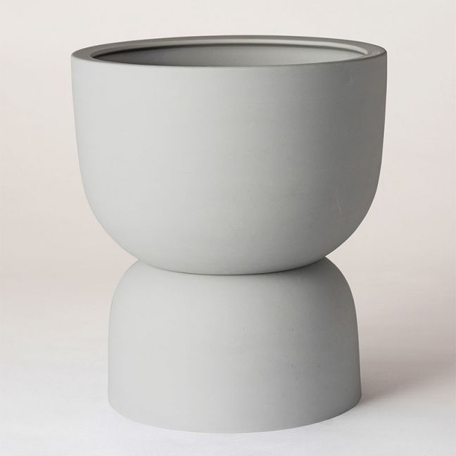 Raw Earth Plant Stand Pot | Siltstone Grey by Angus & Celeste