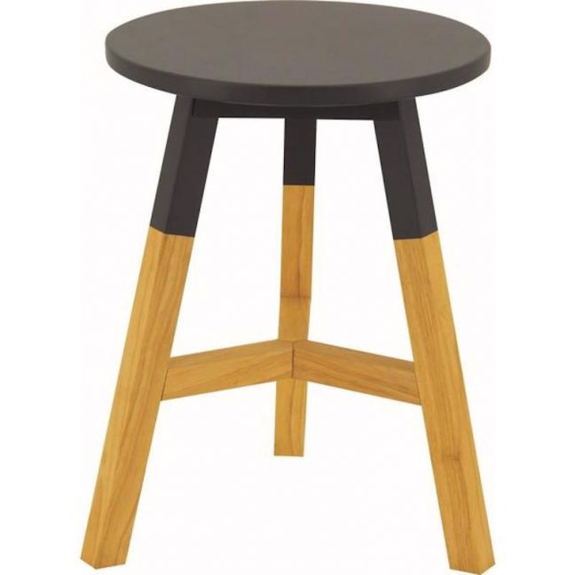 Reba Stool | Oak + Graphite Grey | Modern Furniture