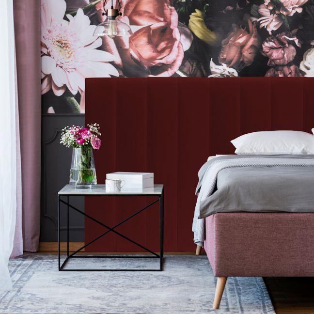 Red Red Wine Velvet Narrow Panelled Upholstered Bedhead   All Sizes   Custom Made by Martini Furnitu