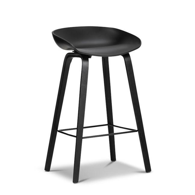 Replica Hay Bar Stools   All Black (Set of 2)