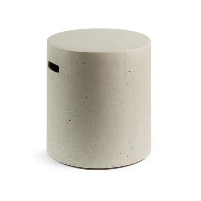 Rhone Concrete Patio Stool | CLU Living