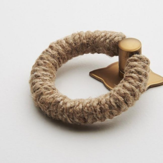 Rope Pull | Jute with Satin Brass