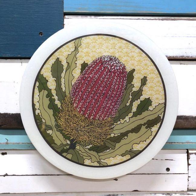 Roundy Woodblock | Banksia Menziesii | Wall Hanging