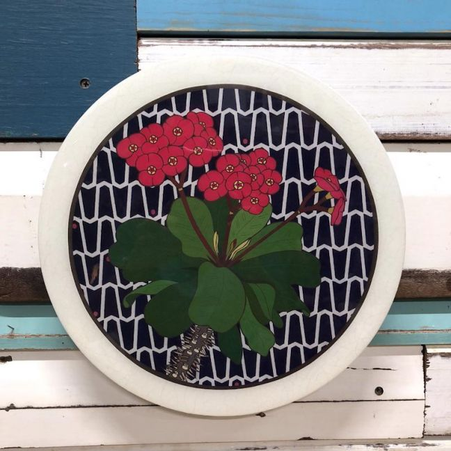 Roundy Woodblock | Crown of Thorns | Wall Hanging