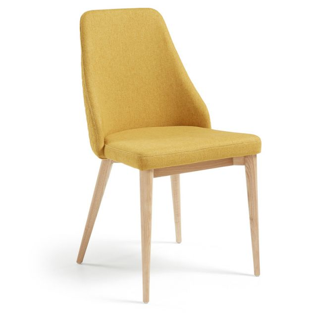 Roxie Quilted Upholstered Chair   Mustard