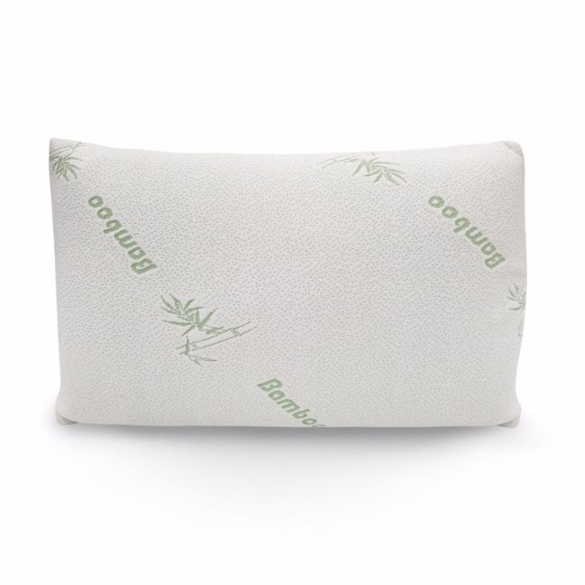 Royal Comfort Bamboo-Covered Memory Foam Pillows – Single Pack