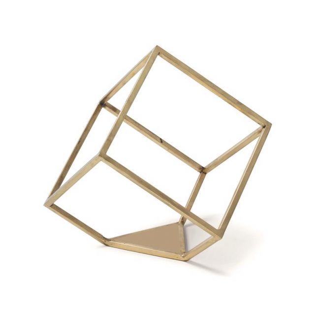 Rubix Line Wall Sculpture | Gold