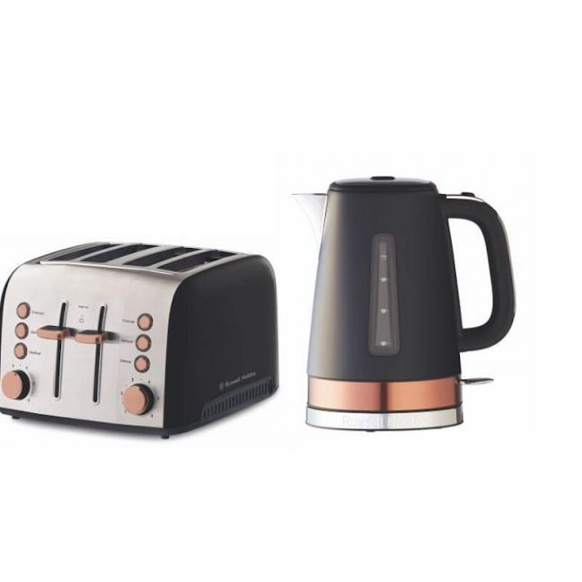 Russell Hobbs Brooklyn Kettle and Toaster Set | Copper