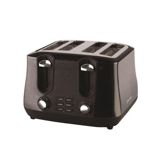 Russell Hobbs Siena 4 Slice Toaster | Black Diamonds