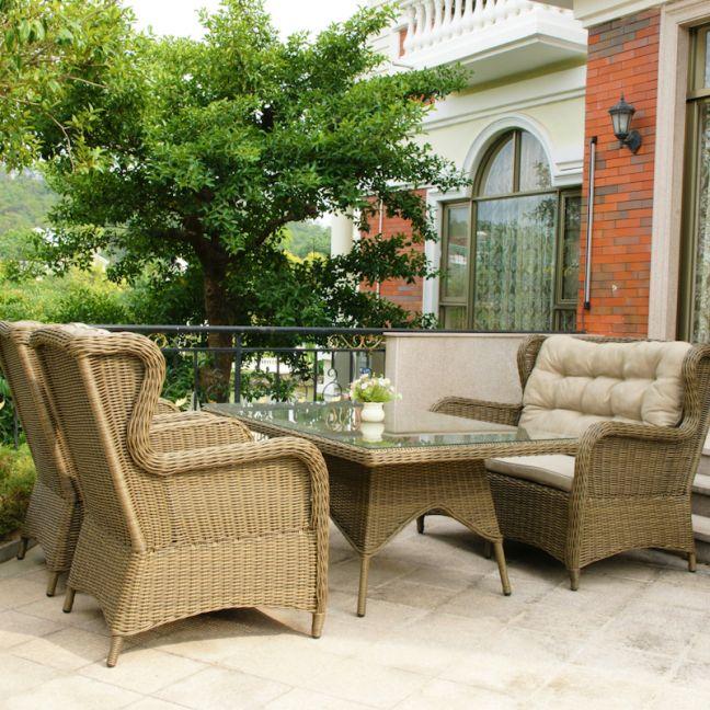 Rye | 4 Piece Wicker Outdoor High Back Lounge Setting