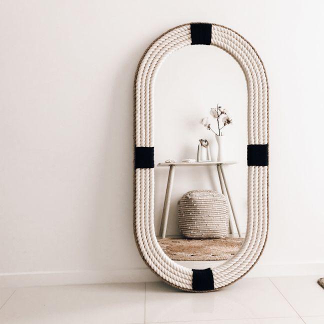 Sail Away Rope Mirror