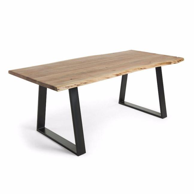 Saluda Natural Wattle Timber Dining Table   Various Sizes
